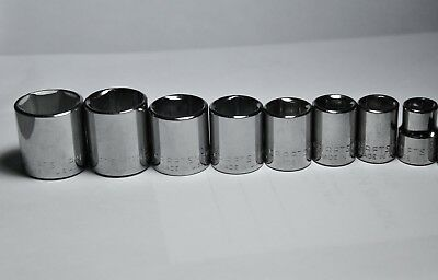 Craftsman 8 Pc 3 8 In  Drive 6 Point Std  Sae Inch Socket Set   Made In Usa