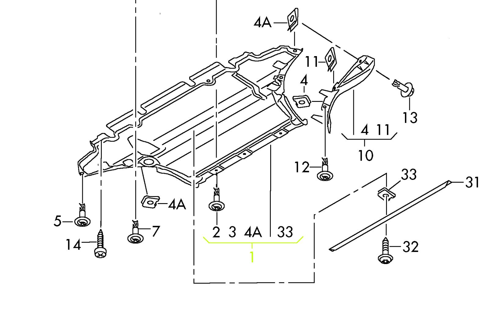 roger vivi ersaks: 2008 Audi A4 Engine Splash Shield Diagram