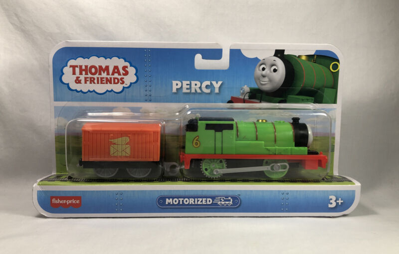 New Fisher-Price Thomas & Friends Motorized Percy Track Master Train Engine