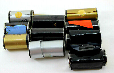 Lot 10 Kingsley Hot Stamping Machine Foil Rolls Gold Sliver Blue Black Christmas