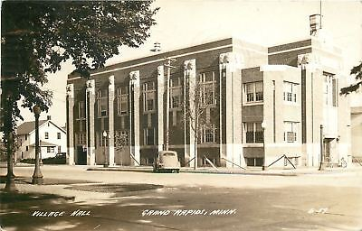 Grand Rapids Mn Village Hall  An Imposing Structure Real Photo Postcard 1940