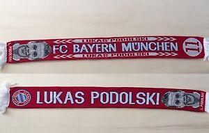 sciarpa calcio Bayern Monaco Lukas Podolski munchen germany scarf bufanda BM16 - Italia - Dopo aver ricevuto l'oggetto, contatta il venditore entro 14 giorni - Italia