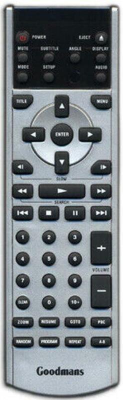 Neuf Véritable Goodmans Télécommande Pour GDVD68 Lecteur DVD Avec Écran