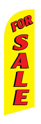 For Sale Red Yellow 30 X 78 Real Estate Swooper Flag Only 6.5 Ft