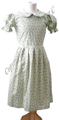 Secret Garden-Narnia-Anne Green Gables-Von Trapp GREEN FLORAL EDWARDIAN DRESS - Von Trapp Kostüm
