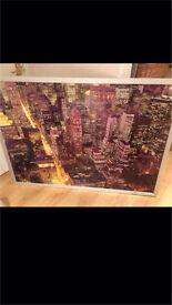 New York Skyline Framed Print Large