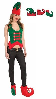 Adult size Elf Hat and Shoe Cover Set Christmas Holiday Thanksgiving - Elf Hat And Shoes