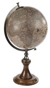 Jodocus Hondius 1627 Antiqued Old World Globe Map Stand 24