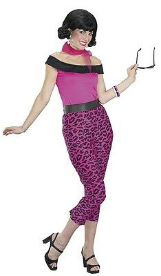 Grease 50's Pink Leopard Outfit Adult Costume Small - Grease Outfit