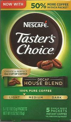 Nescafe Taster's Choice Decaf  5 Packets In Package Instant Coffee Best By