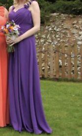 PURPLE BRIDESMAID DRESS SIZE 8
