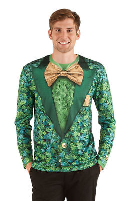 Faux Real Kleeblatt Suit Sublimated Fotorealistisch st Pattys Tag Kostüm (St Pattys Tag Kostüm)