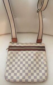 Louis Vuitton Damier Azur Pochette Bosphore Crossbody Bag