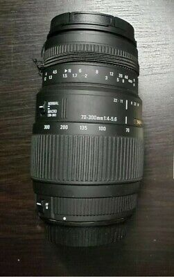 Sigma DG 70-300mm f/4.0-5.6 For Canon+free pouch & filters