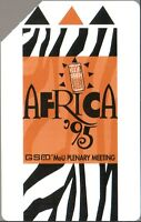 Phone Card Africa, Carta Telefonica - 100 Units - Africa '95, Plenary Meeting - telefonica - ebay.it