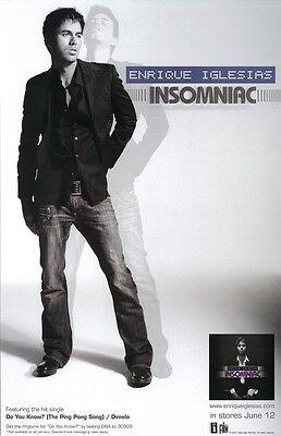 Enrique Iglesias poster, Insomniac : promo poster : 11 x 17 inches