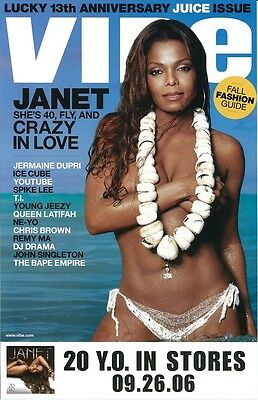 Janet Jackson Poster    20 Y O    Promo Poster   11 X 17 Inches