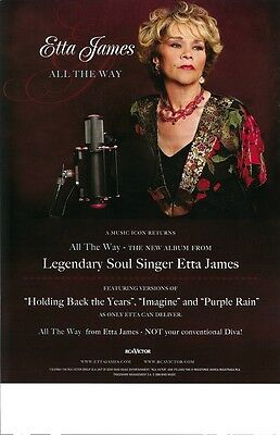 ETTA JAMES poster  ALL THE WAY - 11 x 17 inches