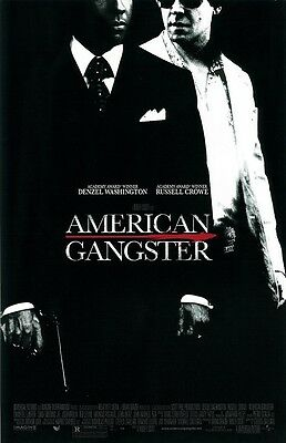 American Gangster Movie Poster   Russell Crowe Poster  Denzel Washington Poster