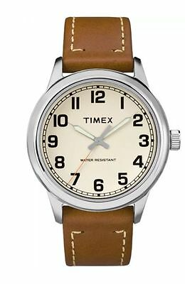 Timex TW2R22700, Men's Easy Reader, Brown Leather Watch Analog Casual Easy Reader Watch