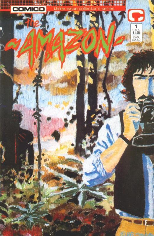 AMAZON #1, 2 & 3 ... Comico ... March-May 1989 ... NEAR MINT