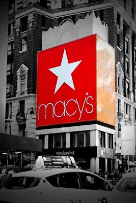 Macy's Times Square New York City America USA Photograph Picture Poster Print