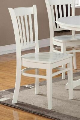 Set of 2 Groton dinette kitchen dining chairs with wood seat in linen off-white