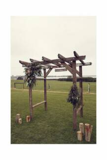 Rustic Timber Wedding Arbour Hire