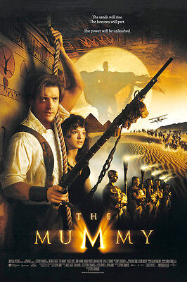 THE MUMMY MOVIE POSTER 2 Sided ORIGINAL VERY RARE 27x40 BRENDAN FRASER