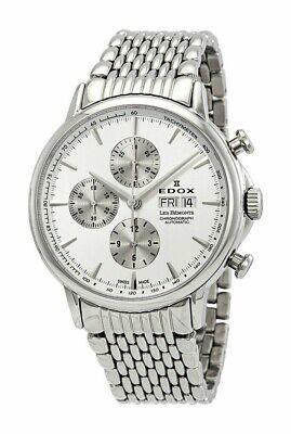NEW Edox Les Bemonts Men's Chronograph Watch - 01120 3M AIN