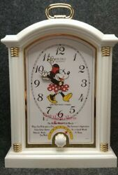 SEIKO, DISNEY, MINNIE MOUSE QFD209W MUSICAL ALARM CLOCK RARE AND HARD TO FIND