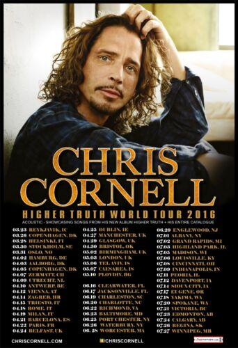 Chris Cornell 2016 box office CONCERT POSTER   World Tour soundgarden