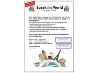 A new language school - Speak the World - Learn Spanish, Italian, Russian, French, German, English