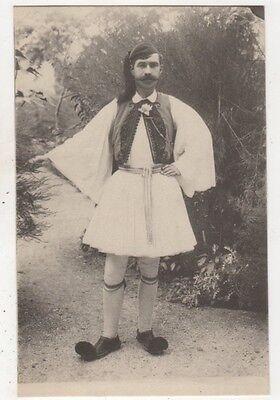 Greece Greek Costume Vintage Postcard 652b