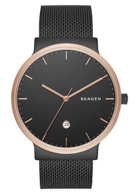 Skagen SKW6296 Men's Ancher Black Stainless Steel Watch