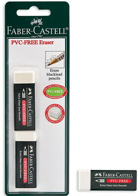 Faber-castell Eraser Pvc Free White Set Of Two 2 Pcs In A Blister Card