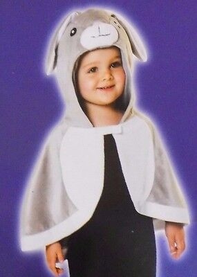 NEW Hooded Rabbit Bunny Cloak Costume Infant Baby Toddler One Size - FREE SHIP](Toddler Bunny Costume)