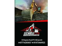 DIGGER HIRE WITH DRIVER, GROUNDWORKS, LANDSCAPES, GARDENS