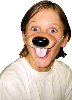 Dog Nose Puppy Pet  Goofy Animal Fancy Dress Halloween Child Costume Accessory (Dog Nose Costume)