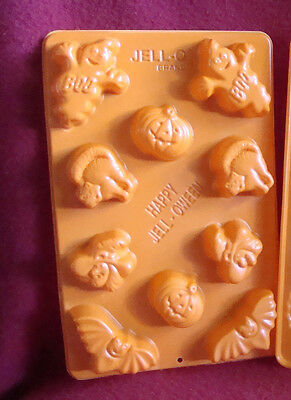 NEW HALLOWEEN Jello Jigglers HAPPY JELL OWEN Orange 10ct Mold w/Recipe Card Copy - Jello Halloween Molds Recipe