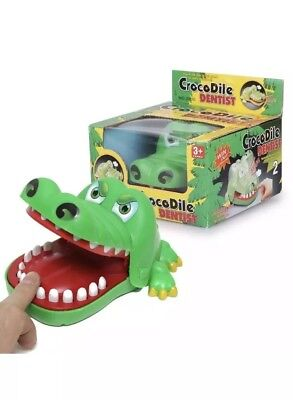 Large Crocodile Mouth Dentist Bite Finger Game Fun Playing Kids Toy Pack Of 2