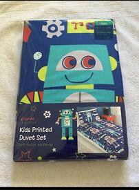 Robot Kids Boys Duvet Bed Set