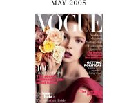 Vogue Magazine May 2005, pre loved condition is good Priced low, Big collection available