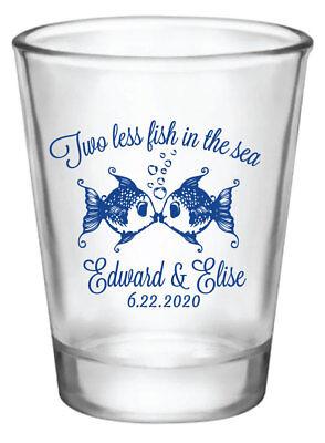 Personalized Shot Glasses Wedding (Wedding shot glasses, wedding favors, personalized 1.75oz shot glasses, (60))