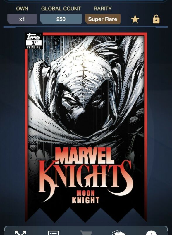 Marvel Collect by Topps Marvel Knights 1st Printing Moon Knight