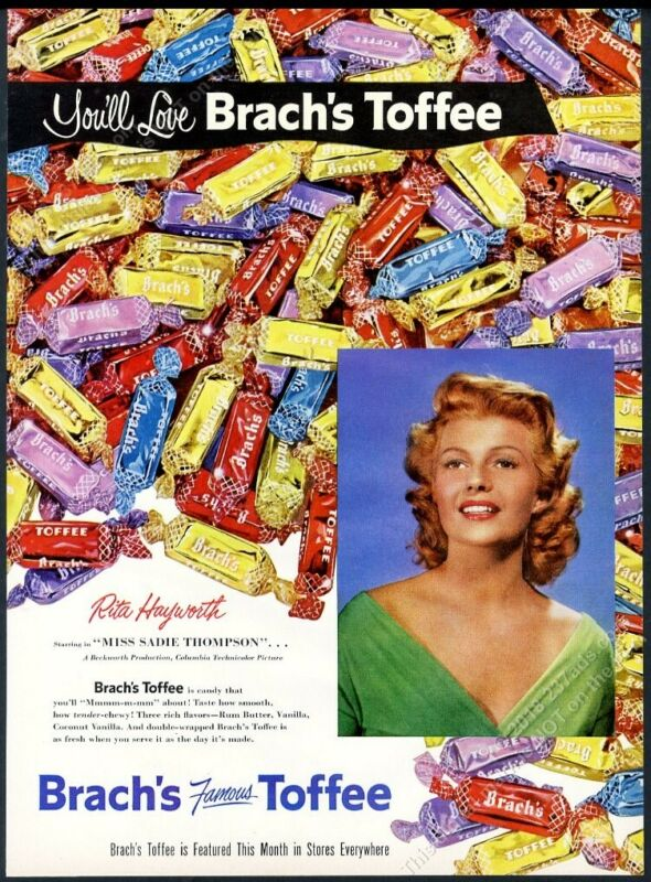 1954 Rita Hayworth photo Brach