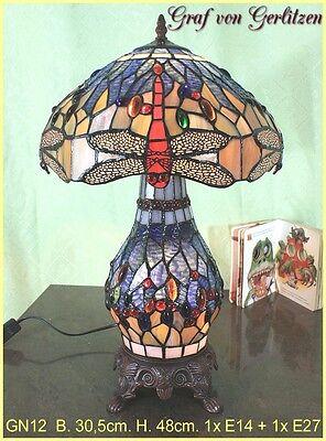 Graf von Gerlitzen Tiffany Tisch Lampe Leuchte Tiffanylampe Tischlampe GN12