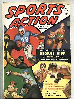 Sports Action #2-1950 fn Notre Dame George Gipp 1st is