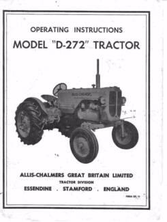 Allis Chalmers Tractors MODELS - D272, B, C, Op, Shop, Service Ma Maclagan Toowoomba Surrounds Preview