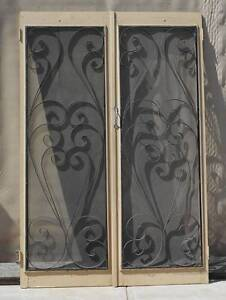 Double Timber Framed Wrought Iron Screen Wingfield Port Adelaide Area Preview